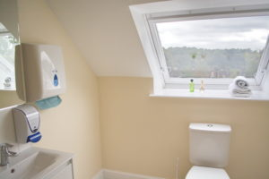 Bathroom in specialist dementia home at Trent court