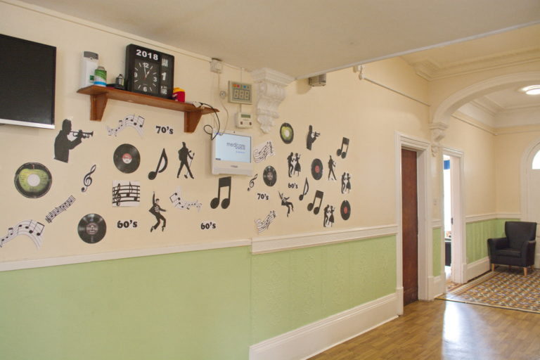 Music wall at Trent Court